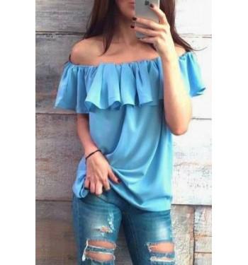 Блузка 3629 голубая