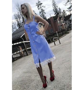 Платье  7314 голубое