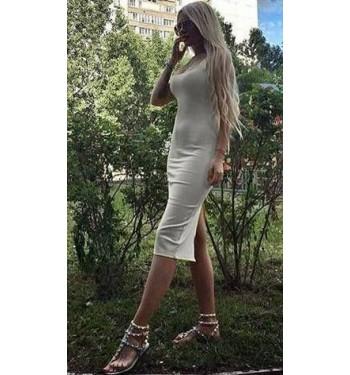 Платье  6022 светло-серое