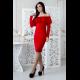 Платье Дария 7255 красное