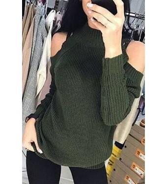 Свитер женский 7102 зеленый