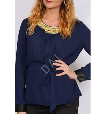 Блузка 3594-1 темно-синяя