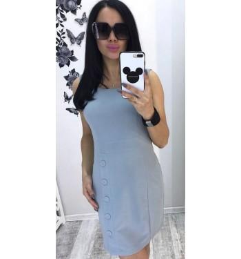 Платье  7294 светло-серое