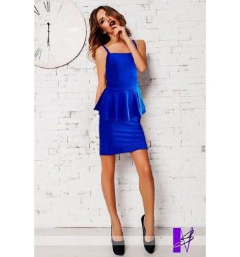 Платье 6687 синее