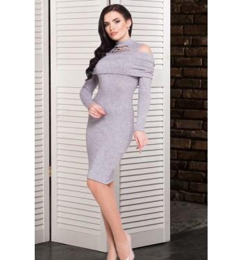 Платье Антим 7253 серое
