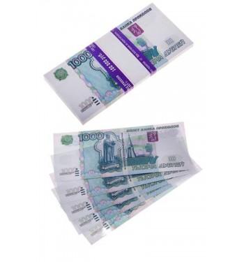 Пачка купюр 1000 руб