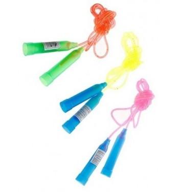 Скакалка пластиковая, 2,5м, цвета МИКС