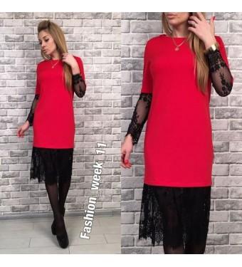 Платье 6476 красное