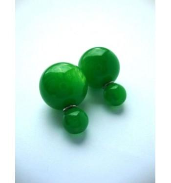 Серьги Dior прозрачные зеленые