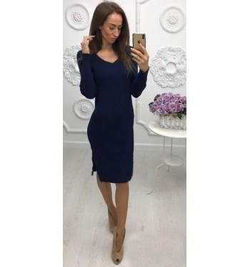 Платье 6874 темно-синее