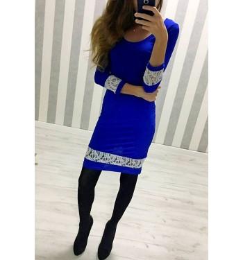Платье 3552 синее