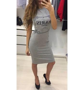 Туника-платье  4760 серая
