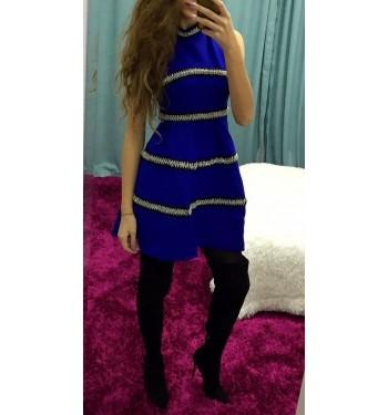 Платье 6528 синее