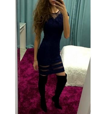 Платье 6441 темно-синее