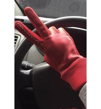 Перчатки сенсорные женские утеплённые 7396 красные