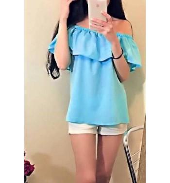 Блузка женская 6683 голубой