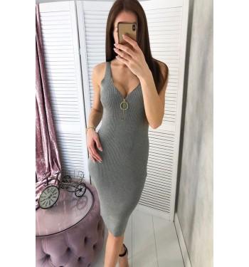 Платье  7292 серое