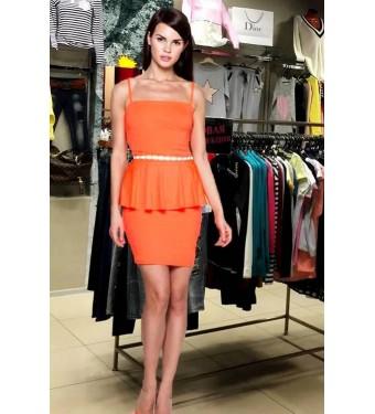 Платье 52000305 коралловое