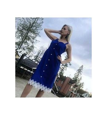 Платье  7314 синее