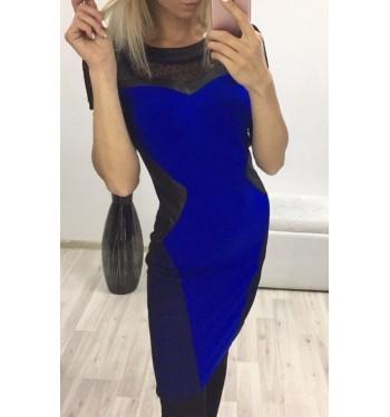 Платье 6509 синее