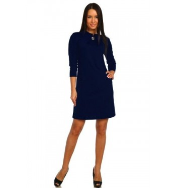 Платье  7249 тёмно-синее