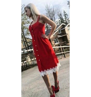 Платье  7314 красное