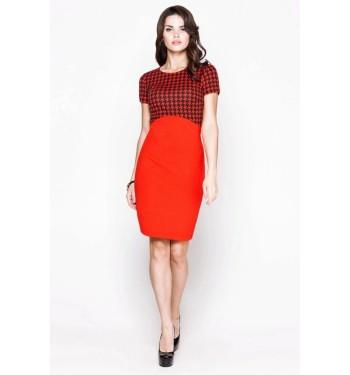 Платье 52000319 красное