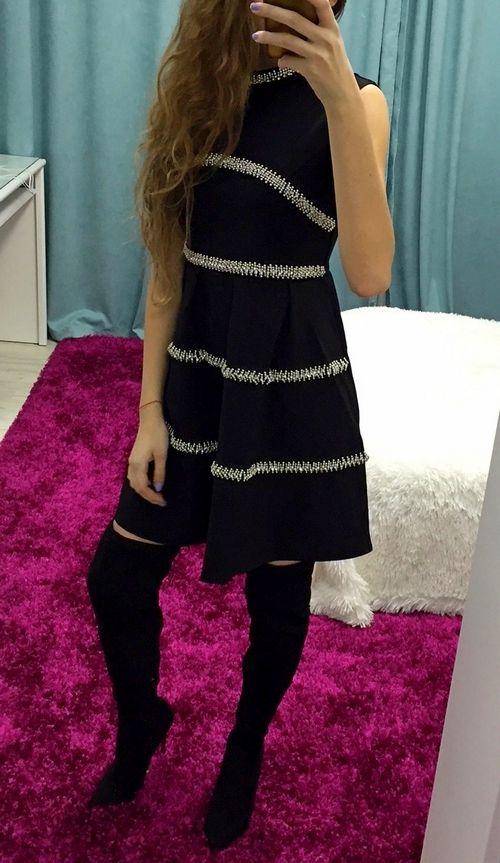 Купить чёрное платье