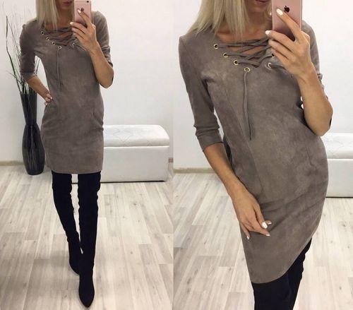 Купить замшевое платье