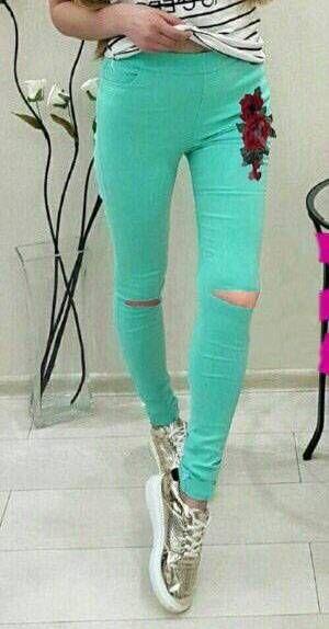 брюки женские зеленые