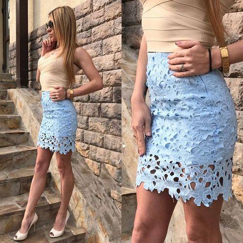 короткие юбки с кружевом